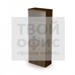 Шкаф книжный со стеклом с топом