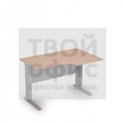 Стол криволинейный на металлических опорах правый