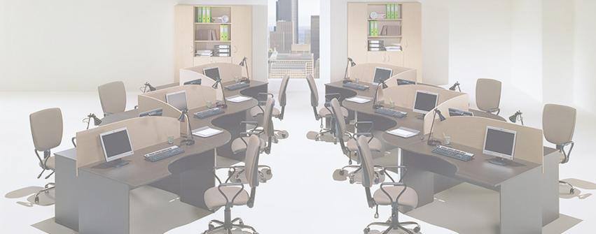 Офисная мебель для персонала Simple легно темный светлый