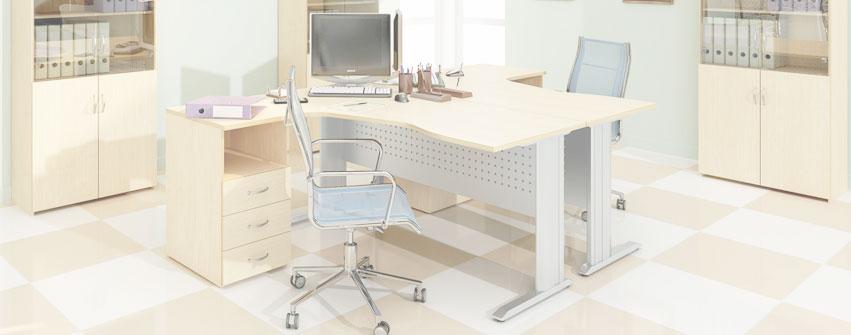 Офисная мебель персонала Стиль цвет дуб