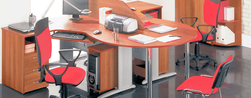 Офисная мебель персонала Стиль цвет орех