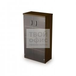 Шкаф со стеклянным фасадом с топом