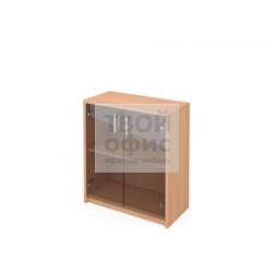 Шкаф офисный для документов низкий закрытый