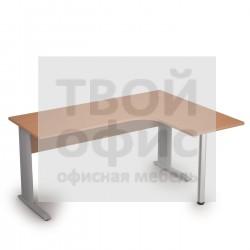 Стол криволинейный металлических опорах правый