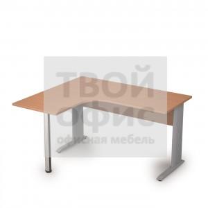 Стол криволинейный на металлических опорах левый
