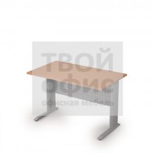 Стол прямоугольный на металлических опорах