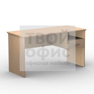 Стол письменный офисный с подвесной тумбой