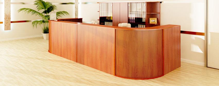 Офисная мебель персонала Стиль ресепшн цвет орех