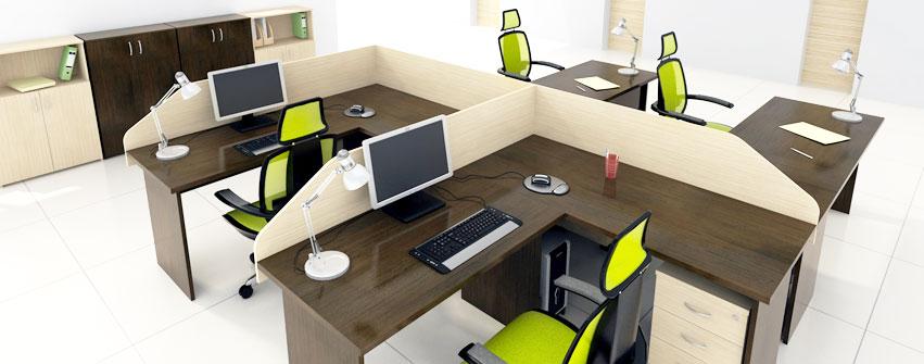 Офисная мебель персонала Стиль цвет венге